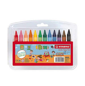 Crayones Yippy Wax Jumbo 12 Colores Stabilo