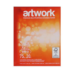 Papel Bond Tamaño Carta 216 X 279 mm 75 Grs Artwork (500 hojas)