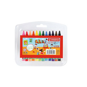 Crayones Yippy Wax Delgados 12 Colores Stabilo