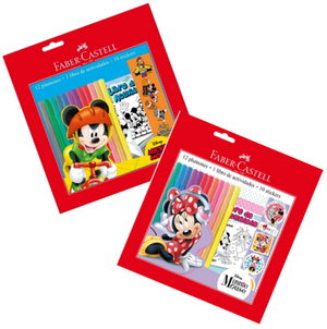 Marcador Escolar Disney (12 Colores + Libreta+ Stickers)