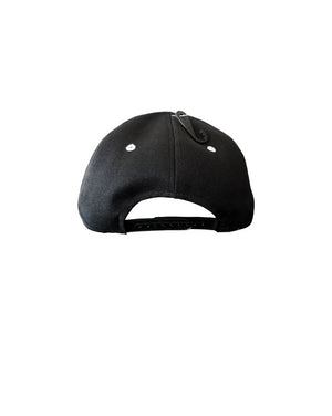 Quipster Character Princess on black unisex Cap back