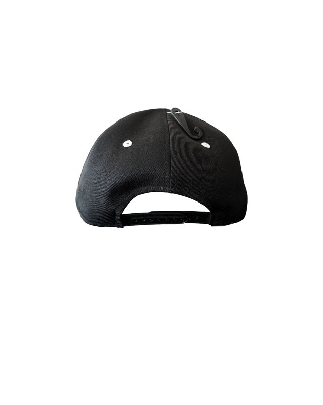 Quipster Character Lifeguard on black unisex Cap back