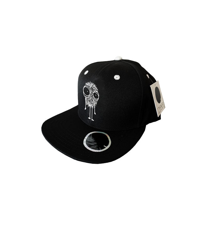 Quipster Character Fluffy on black unisex Cap back