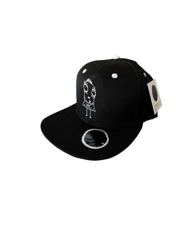 Quipster Character Princess on black unisex Cap