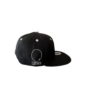 Quipster Character Fluffy on black unisex Cap side