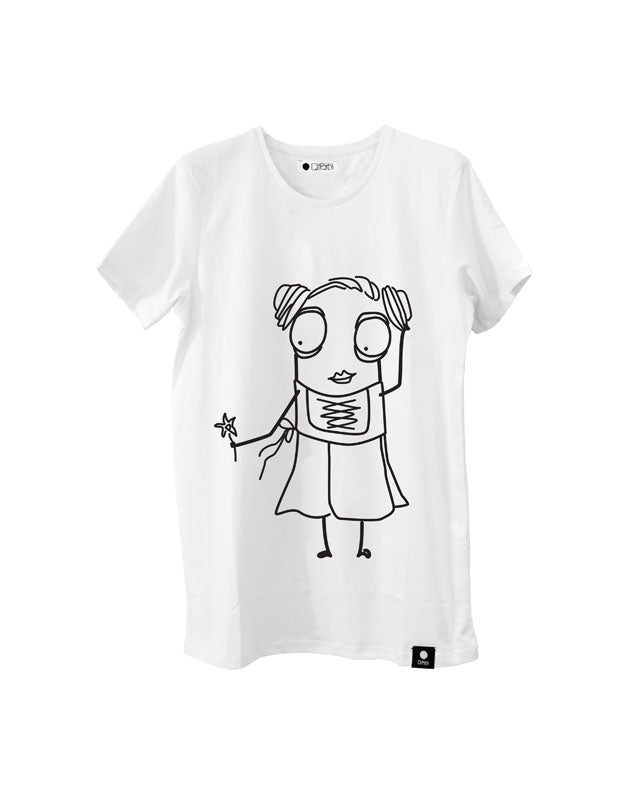 Quipster Character Helga on white unisex T-Shirt