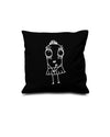 Quipster Character Princess on black Pillow Case