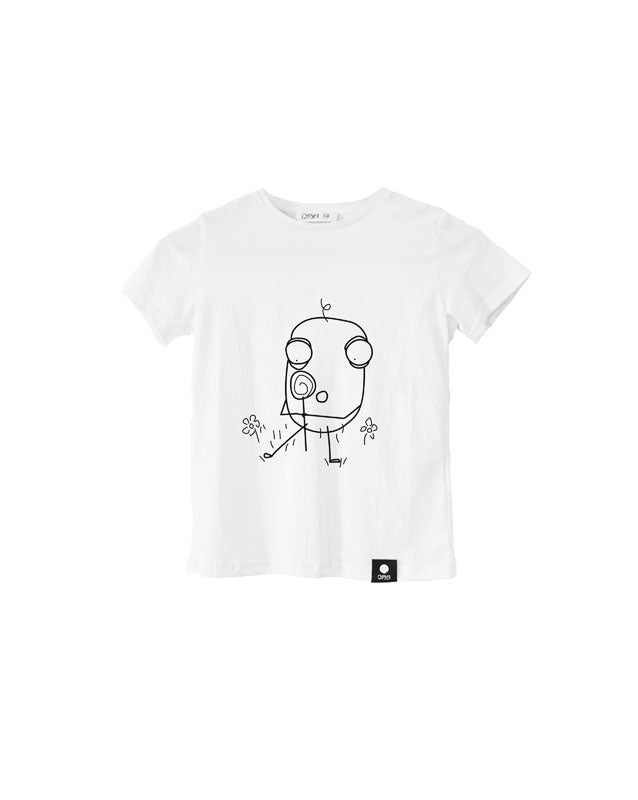 Quipster Character Lolly on white unisex Kids T-Shirt