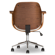 Load image into Gallery viewer, Baxton Studio Rathburn Modern and Contemporary White and Walnut Office Chair