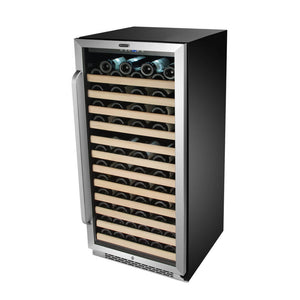 Whynter 100 Bottle Built-in Stainless Steel Compressor Wine Refrigerator with Display Rack and LED display