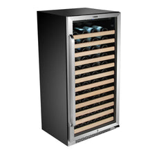 Load image into Gallery viewer, Whynter 100 Bottle Built-in Stainless Steel Compressor Wine Refrigerator with Display Rack and LED display