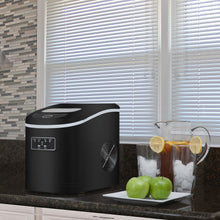 Load image into Gallery viewer, Whynter Compact Portable Ice Maker 27 lb capacity - Metallic Black