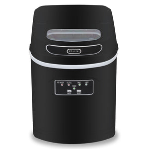 Whynter Compact Portable Ice Maker 27 lb capacity - Metallic Black