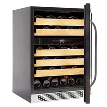 Load image into Gallery viewer, Whynter 46 bottle Dual Temperature Zone Built-In Wine Refrigerator