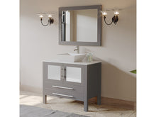 "Load image into Gallery viewer, Complete 36"" Gray Vanity Set with Polished Chrome Plumbing"