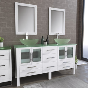 "Complete 63"" Vanity Set with Polished Chrome Pluming"