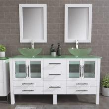 "Load image into Gallery viewer, Complete 63"" Vanity Set with Polished Chrome Pluming"
