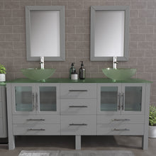 "Load image into Gallery viewer, Complete 71"" Vanity Set with Polished Chrome Plumbing"