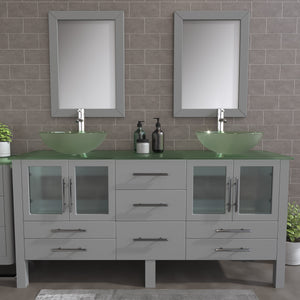 "Complete 71"" Vanity Set with Polished Chrome Plumbing"