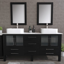 "Load image into Gallery viewer, Complete 72"" Vanity Set with Brushed Nickel Plumbing"