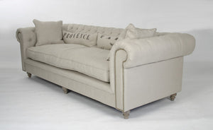 Zentique Grey Tufted Sofa