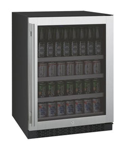 "Allavino FlexCount Series 24"" Wide Beverage Center - Black Cabinet with Stainless Steel Door - Right Hinge"