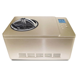 Whynter Ice Cream Maker 2 Quart Capacity Stainless Steel Bowl & Yogurt Function in Champagne Gold
