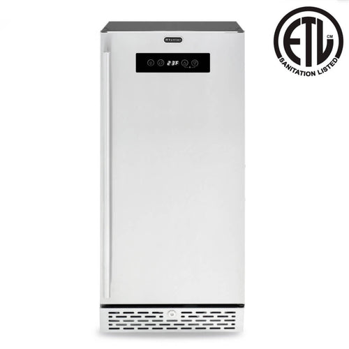 Whynter Stainless Steel Built-in or Freestanding 2.9 cu. ft. Beer Keg Froster Beverage Refrigerator with Digital Controls