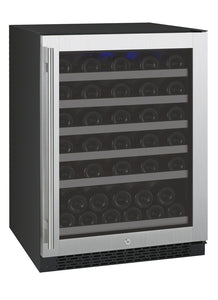 "Allavino 24"" Wide FlexCount Series 56 Bottle Single Zone Stainless Steel Right Hinge Wine Refrigerator"