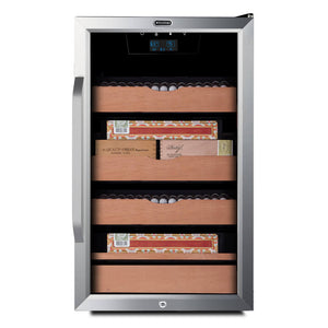 Whynter 4.2 cu.ft. Cigar Cabinet Cooler and Humidor with Humidity Temperature Control and Spanish Cedar Shelves