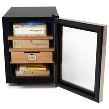 Load image into Gallery viewer, Whynter Stainless Steel 1.2 cu. ft. Cigar Cooler Humidor