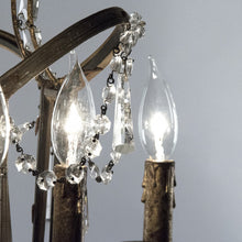 Load image into Gallery viewer, Zentique Corette Hanging Chandelier Light with Draped Crystals LI-05-144S