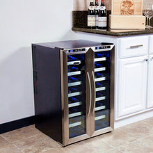 Load image into Gallery viewer, Whynter 32 Bottle Dual Temperature Zone Wine Cooler