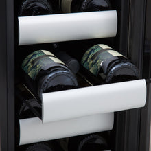 Load image into Gallery viewer, Whynter Elite 40 Bottle Seamless Stainless Steel Door Dual Zone Built-in Wine Refrigerator
