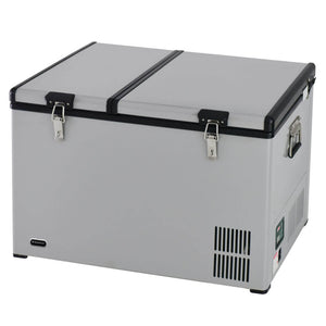 Whynter 90 Quart Dual Zone Portable Fridge/ Freezer with 12v Option and Wheels