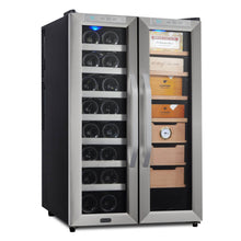 Load image into Gallery viewer, Whynter Freestanding 3.6 cu. ft. Wine Cooler and Cigar Humidor Center
