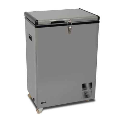Whynter 95 Quart Portable Wheeled Freezer with Door Alert and 12v Option - Gray