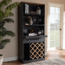 Load image into Gallery viewer, Baxton Studio Mattia Modern and Contemporary Dark Grey and Oak Finished Wood Wine Cabinet