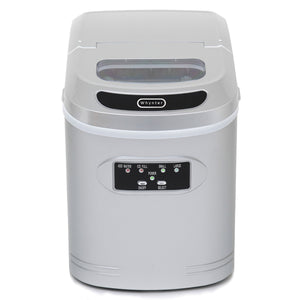 Whynter Compact Portable Ice Maker 27 lb capacity - Metallic Silver