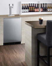 "Load image into Gallery viewer, Summit 24"" Wide Built-In Kegerator, ADA Compliant"