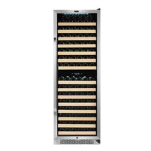 Load image into Gallery viewer, Whynter 164 Bottle Built-in Stainless Steel Dual Zone Compressor Wine Refrigerator with Display Rack and LED display
