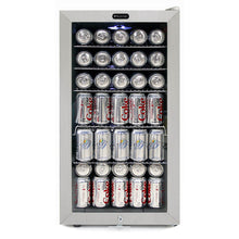 Load image into Gallery viewer, Whynter Beverage Refrigerator With Lock - Stainless Steel 120 Can Capacity