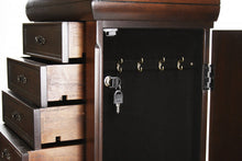 Load image into Gallery viewer, Zentique Louis Alexandre Armoire with 7 Drawers 2 doors Dark Brown