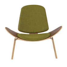 Load image into Gallery viewer, Kardiel Tripod Plywood Modern Lounge Chair, Urban Surf Twill/Oak