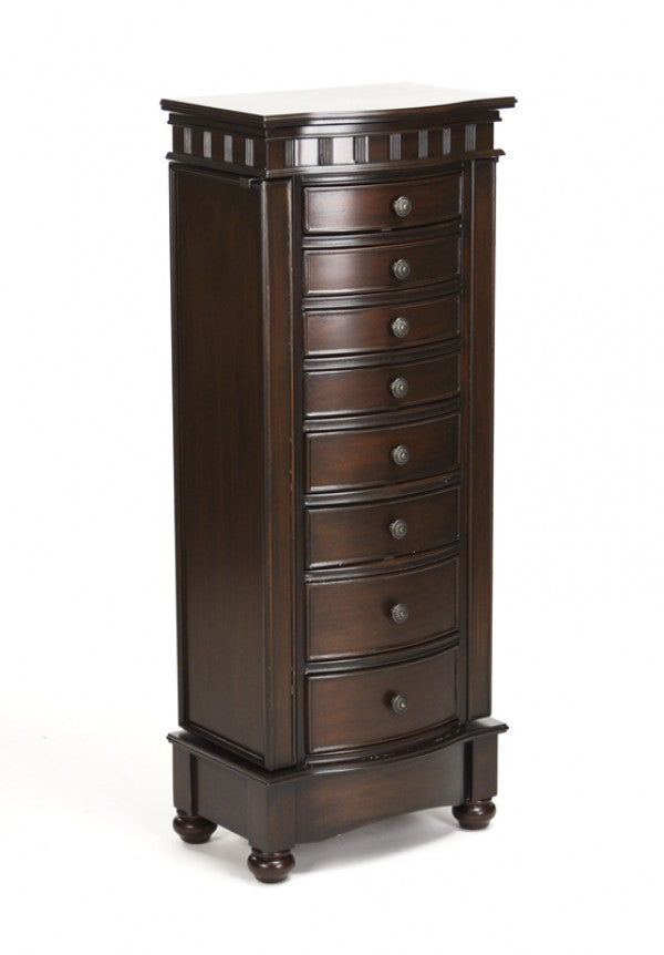 Zentique Muscat Armoire with 8 Drawers for Jewelry Dark Brown