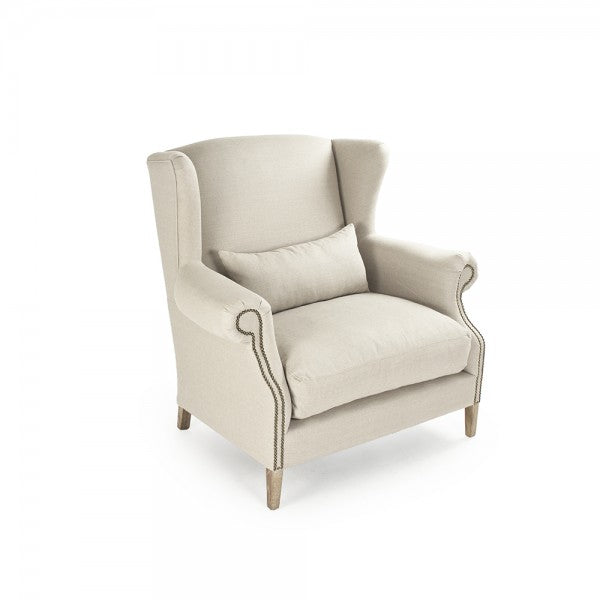Zentique  Napoleon Half Wingback Chair