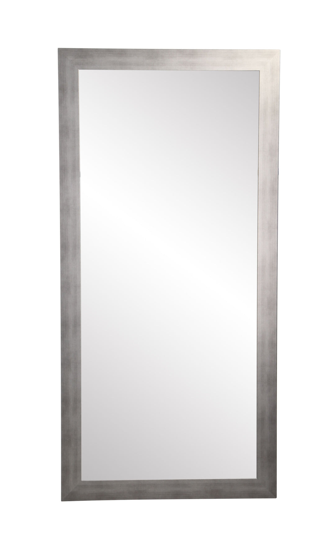 Timberwolf Silver Framed Floor Leaning Tall  Mirror 32''x 66'' Brushed Silver