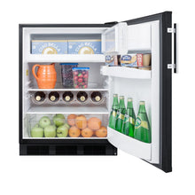 "Load image into Gallery viewer, Summit 24"" Wide Built-In Refrigerator-Freezer"