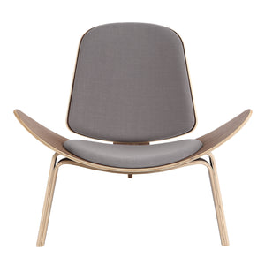 Kardiel Tripod Plywood Modern Lounge Chair, Urban Surf Twill/Oak