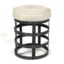 Load image into Gallery viewer, Zentique Recycled Metal Round Stool